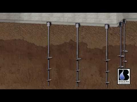 This time-lapse video shows the process of installing helical piers to support building foundations in new construction. Helical piers are driven into the ground like a screw by a hydraulic driver, past the frost line and the depth where expanding soils can cause foundations to shift, sink and crack.Once they reach a layer of bedrock or a strata of soil that is compact enough to support the foundation, the piles are fitted with braces and the foundation can thus be safely built. Helical piers can be also safely used to stabilize and lift foundations in existing buildings and installation can be performed in small job sites areas like urban houses with small yards and not a lot of room for excavation.