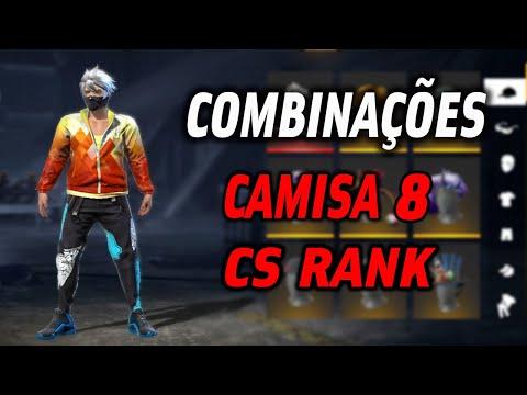 Melhores Combinaes Camisa de mestre temporada 8 CS rank  Free Fires combinaes top