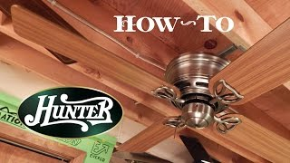 How To Install A Ceiling Fan   Hunter Low Profile III