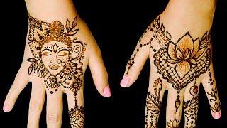 No Talking ASMR Henna Tattoo ART Design! Light Crinkling Buddha