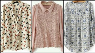 Comfortable & Stylish Floral Print Chiffon Blouses & Top Designs