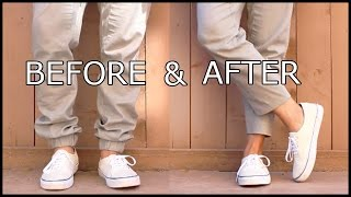 HOW-TO TAPER AND CROP A PAIR OF PANTS I MENS FASHION