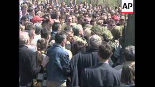 BOSNIA: DOBOJ: BOSNIAN SERBS AND MOSLEM CIVILIANS CLASH