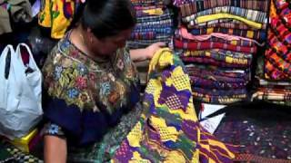Mayan Woman, Lidia Lopez, Explaining the Meanings of the Patterns on Huipils & What They Represent.