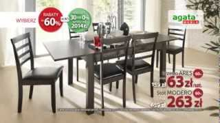 60. urodziny Agata Meble: stół Modero i krzesło Ares 60% taniej