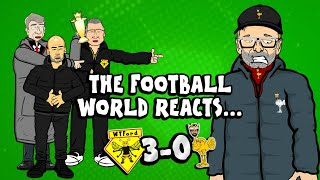 The Onefootball x 442oons show is here and this week there's reaction to Liverpool's shock 3-0 loss to Watford! Pep and Man City are delighted, Arsenal fans are too, Cristiano and Messi have their say, Mourinho doesn't feel so bad, all whilst Jurgen Klopp regrets putting Lovren up against Troy Deeney!  ► Liked the video? Let us know by subscribing to our channel: http://bit.ly/SubscribeToOnefootball ► Liked it a lot? Download our app: http://bit.ly/2GeDHEK Onefootball is the world's most comprehensive football app and is available free on iOS, Android and Windows Phone!  ► Check our website: https://www.onefootball.com/en ► Like us on Facebook: http://bit.ly/1YpT8ud ► Follow us on Twitter: http://bit.ly/2lDcoK8 ► Follow us on Instagram: http://bit.ly/1U7uYQh ► Listen to the Onefootball podcast: http://bit.ly/2617W55  Photo credits: Getty