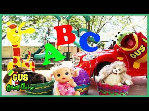 LEARN ABC LETTERS and Alphabets education for children at the Playground Park