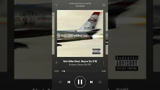 "Not Alike- EMINEM FEAT. ROYCE DA 5'9"" OFFICIAL AUDIO"