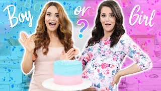 BABY GENDER REVEAL!! Gender Reveal Cake w/ my Sister! - Video Youtube