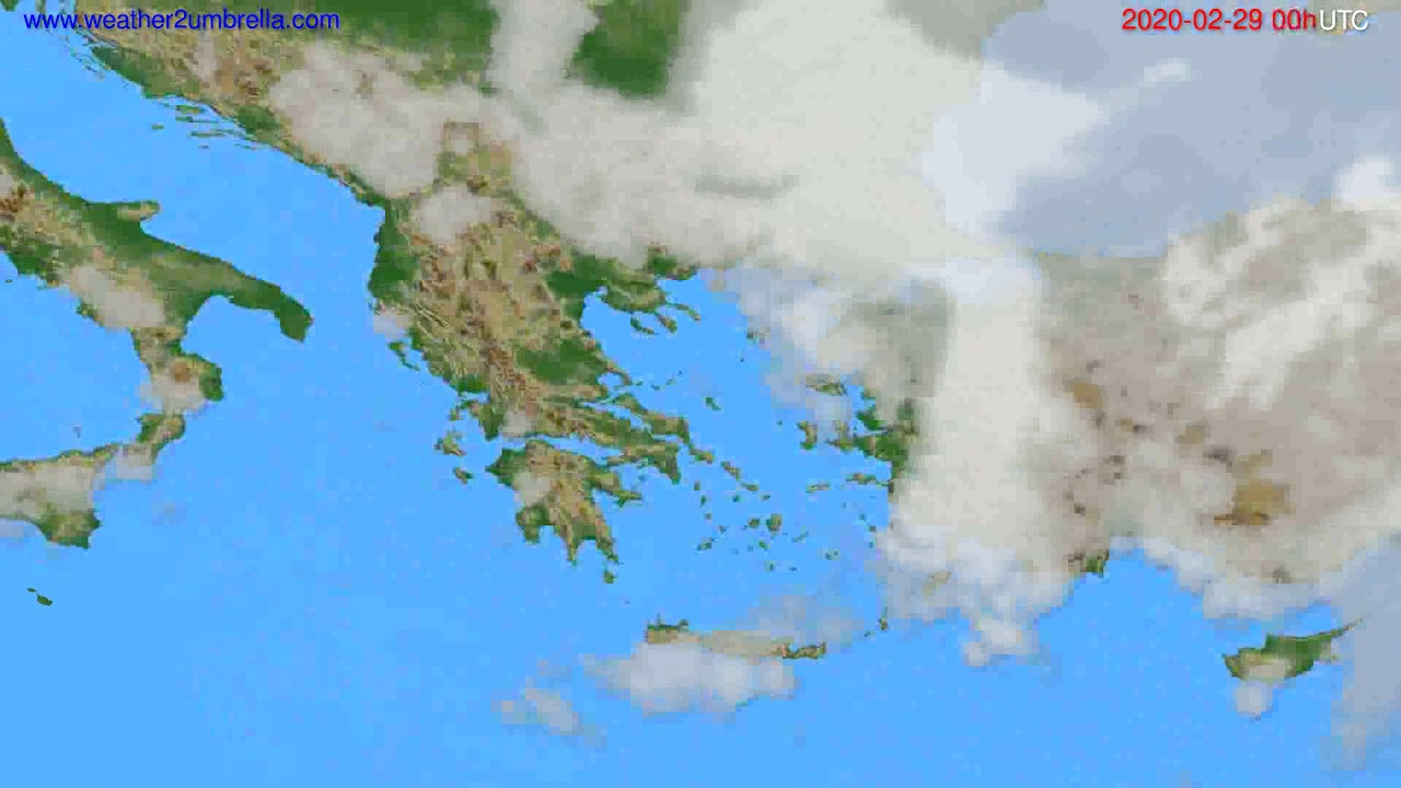 Cloud forecast Greece // modelrun: 00h UTC 2020-02-28