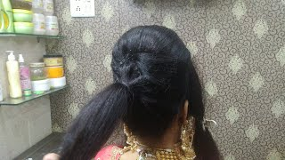 Latest And Beautiful Bun And Decorative Indian Bridal Hairstyle. Step By Step In Hindi.