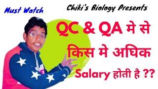 QC & QA department Salary at Pharma || Pharma Company Jobs in India....By Chiki's Biology