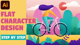 Character Illustration | Illustrator CC Tutorial (FLAT DESIGN)