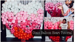 Giant Floral Balloon Heart Tutorial | Made Only Using Rubber-bands | Balloon Garland Tricks