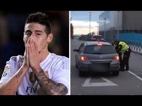 VIDEO COMPLETO persecucion de la policia a James Rodriguez por ir a mas de 200 k/h