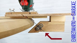 ✔️ How to cut chamfer and bevel with a cutting jig for jigsaw