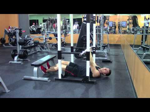 Inverted Rows Underhand - HASfit Back Exercise Demonstration - Supinated Inverted Pull Ups - Pullups
