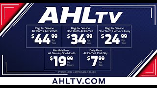 Watch every game live on AHLTV!