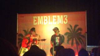 Obsessed - Emblem3 Fireside Story Sessions