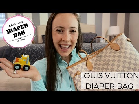 What's In My LOUIS VUITTON NEVERFULL Diaper Bag – Luxury Purse Review & Essentials