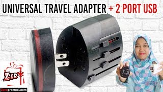 Souvenir Universal Travel Adapter + 2 USB Ports UAR04 Review by zeropromosi