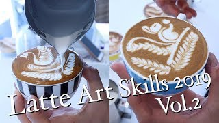 Amazing Cappuccino Latte Art Skills 2019 Vol.2 / Barista Latte Art Skill Rosetta, Tulip Collection