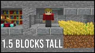 Hidden Minecraft Base that's only 1.5 Blocks Tall!