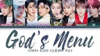 Stray Kids 스트레이 키즈 '神메뉴 (God's Menu)' Color Coded Lyrics [Han/Rom/Eng]