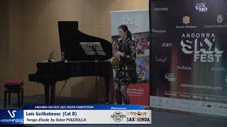 Loïs Guilhalmenc plays Tango Etude by Astor Piazzolla