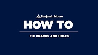 How to fix cracks and holes before painting