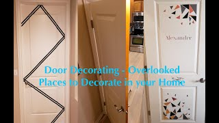 Door Decorating - Overlooked Places To Decorate In Your Home #LoveWhereYouLive