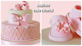 Baptism Fondant Cake Tutorial - Torta Battesimo In Pasta Di Zucchero