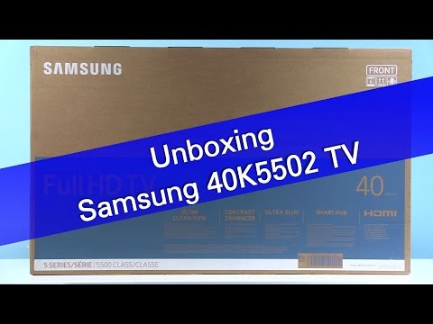 Samsung 40K5502 K5500 TV unboxing