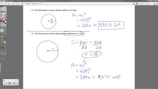 Geometry - Chapter 11 Review Packet (Perimeter and Area of Polygons)