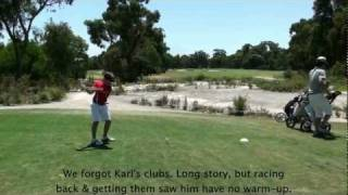 preview picture of video 'Karl playing at The Metropolitan Golf Club, Age 10'