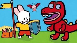 Рисунки Тёмы : Нарисуй редких животных! Дракон, мамонт, динозавр! обучающий мультфильм для детей
