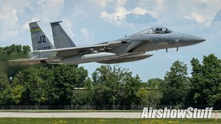 Military And Warbird Departures - EAA AirVenture Oshkosh 2018