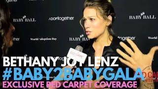 <b>Bethany Joy Lenz</b> Interviewed At 5th Annual BABY2BABY Gala Charity Fundraiser
