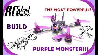 Сборка самого мощного гоночного квадрокоптера! Purple Monster!