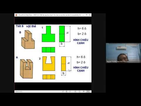 Bài tập TH- Đọc bản vẽ các khối đa diện (tt)