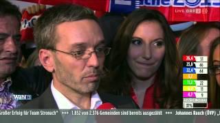 Wahl 13 - Herbert Kickl Zur Ersten Hochrechnung 2013