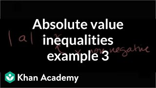 Absolute value inequalities example 3