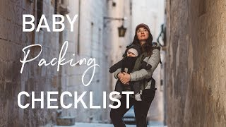 Baby Travel Packing Checklist | How to Pack