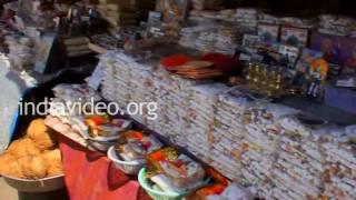 Trimbakeshwar Market area in Nasik, Maharashtra