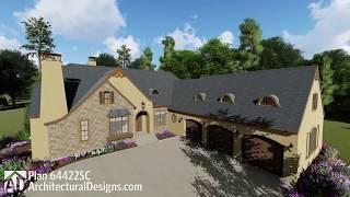 Architectural Designs European House Plan 64422SC Virtual Tour