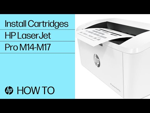 How to Install Cartridges in HP LaserJet Pro M14-M17 Printers