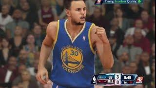 NBA 2K14 PS4 Gameplay - Warriors @ Heat