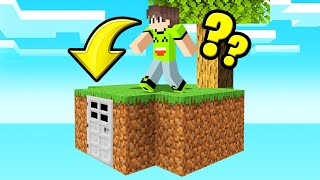 I Built A SECRET TREASURE ROOM In My SKY BLOCK ISLAND! (Minecraft)