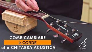 Sei sicuro di cambiare correttamente le corde alla chitarra acustica?