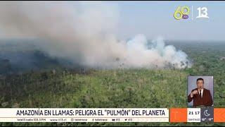 Incendio en el Amazonas genera alarma mundial: se quema el pulmón del planeta